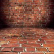 Grungy Brick Room — Stockfoto