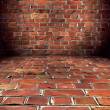 Grungy Brick Room - Stock Photo