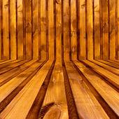 Empty Wooden Room — Stock Photo