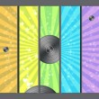 Disco Retro Background - Stock Photo