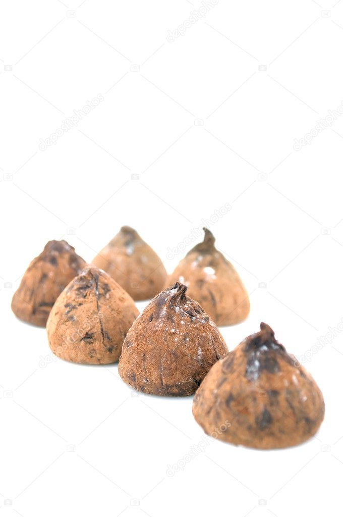 Chocolate truffles isolated on a white background — Stock Photo #1937940