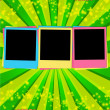 Colorful Blank Photos on Jolly Backgroun - Stockfoto