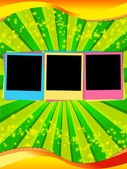 Colorful Blank Photos on Jolly Backgroun — Stock Photo