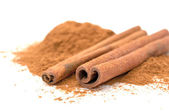 Cinnamon Sticks and Ground Cinnamon — Photo