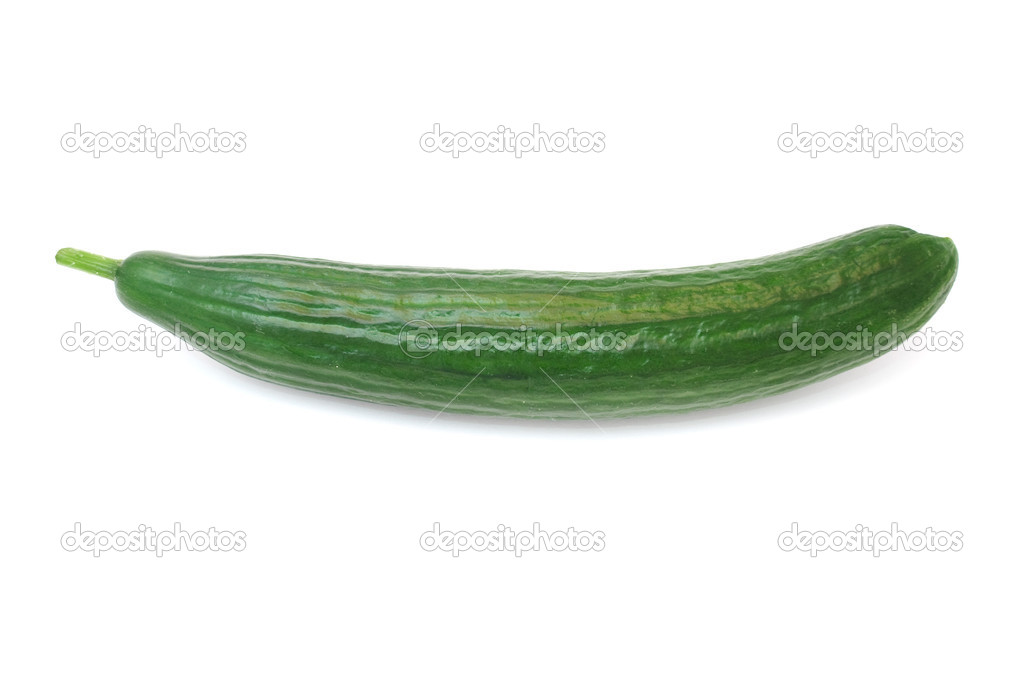 A fresh green cucumber isolated on a white background — Stock Photo #2331455
