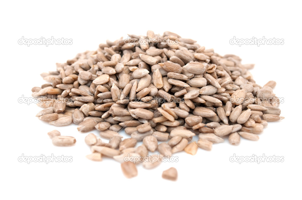 A pile of sunflower seeds isolated on a white background — Stok fotoğraf #2331509