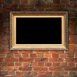 Picture Frame on Brick Wall — Stockfoto