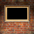 Picture Frame on Brick Wall - Stock Photo