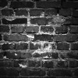 Dark Brick Wall — 图库照片