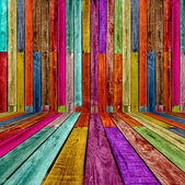 Multicolored Wooden Room — Foto de Stock
