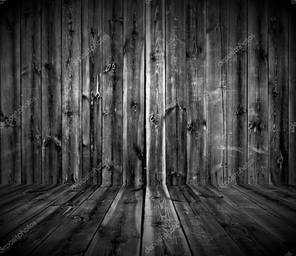 A dark empty wooden room — Foto Stock #2429050