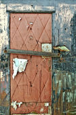 Torn Nailed Up Door — Fotografia Stock