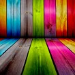 Stock Photo: Colorful Wooden Room