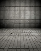 Gloomy Tiled Room — Stock Photo