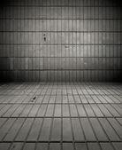 Gloomy Tiled Room — Stock Photo