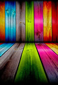 Colorful Wooden Room — Stock Photo