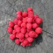 Stock Photo: Red Raspberries