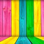 Vibrant Wood Background — Stock Photo
