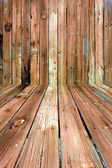 Shabby Wooden Room — Stock Photo