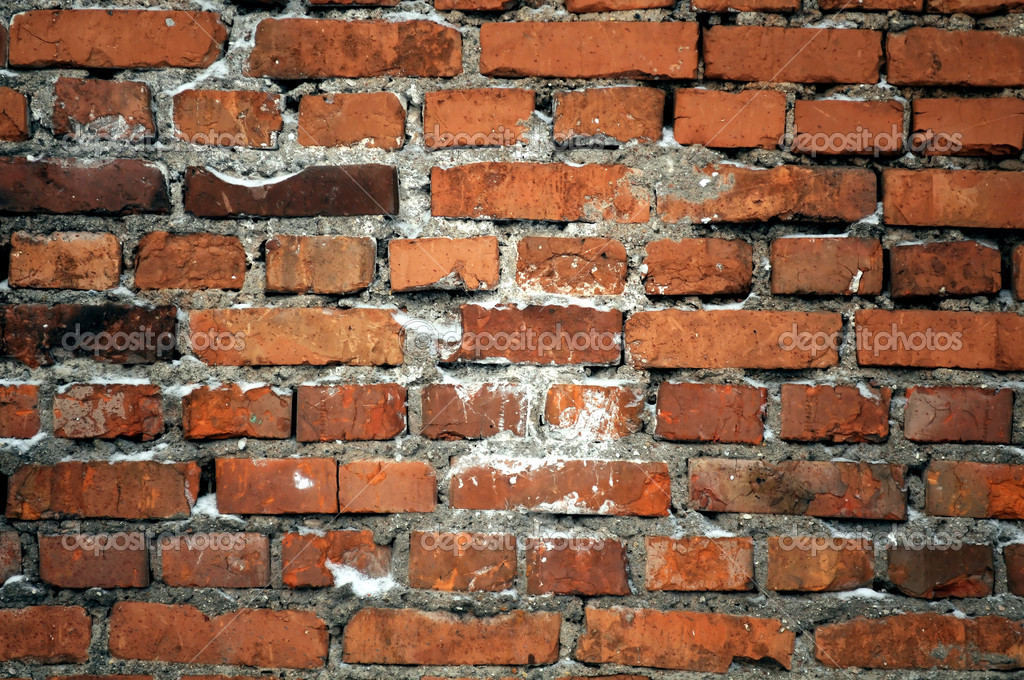 A grungy red brick wall — Stock Photo #2577172