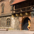Woman on the Krakow — Stock Photo #1199290