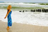 Mar está chamando-me na tempestade — Fotografia Stock