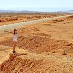 Woman in the desert — Stock Photo #1579810