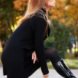 Foto Stock: Girl-autumn