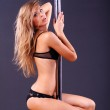 Dancer female striptease — Stock Photo