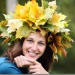 Stock Photo: Autumn beauty woman