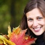 Autumn beauty woman — Stock Photo