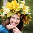 Autumn beauty woman — Stock Photo