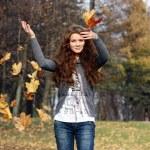 Autumn beauty woman — Stock Photo #1271825