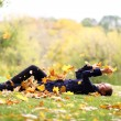 Stock Photo: leaf fall