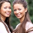 Twins girls — Stock Photo