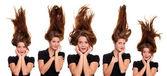 Cheveux vers le haut — Photo