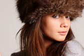 Furry hat — Stock Photo