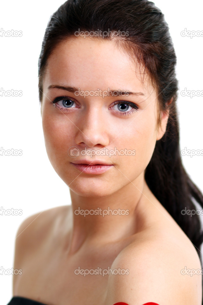 Closeup portrait of beautiful woman  Stock Photo #1271895