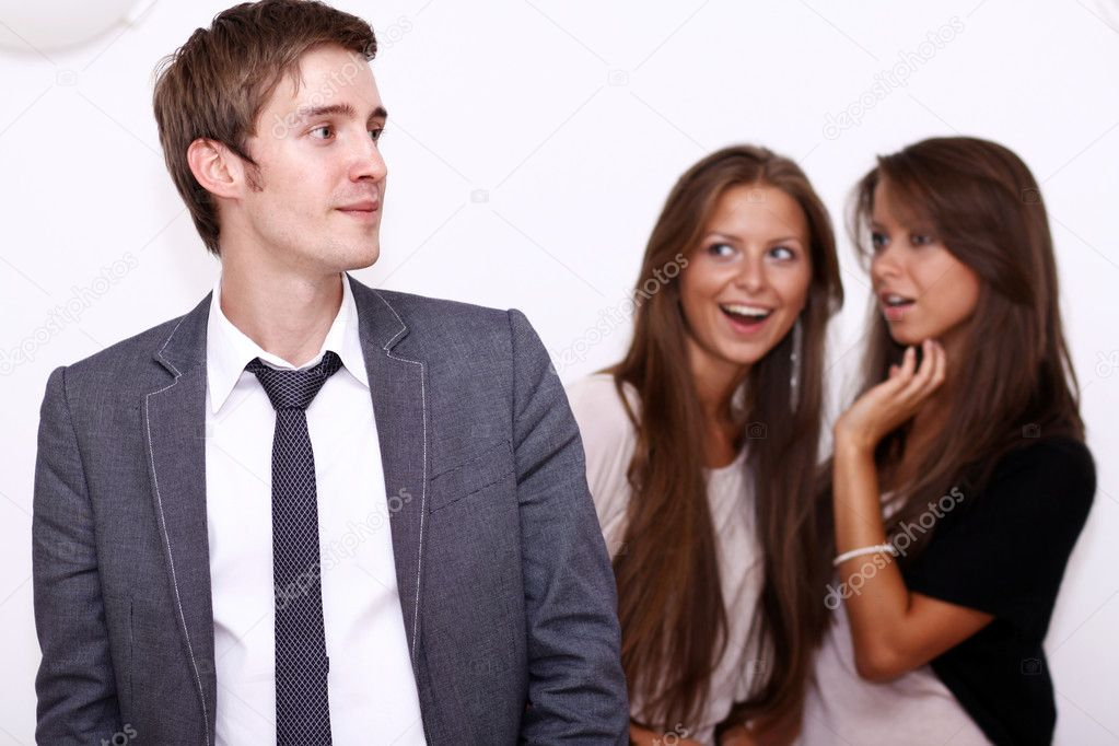 Two girls and one young man   Stock Photo #1275871