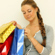 Shopping woman smiling — Stock Photo #1297398