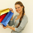 Shopping woman smiling — Stock Photo #1297419