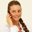 Caucasian girl with mobile phone — Stock Photo #1297475