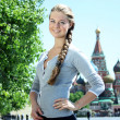 Womtourist in Moscow (Russia) — Stock Photo #1297576