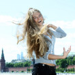 Woman tourist in Moscow (Russia) - Stock Photo