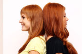 Red-haired couple — Stock Photo