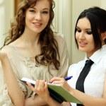 Wo young women reading books — Stock Photo