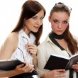 Wo young women reading books — Stock Photo