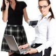 Business working with laptop — Stock Photo #1317449