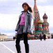 Woman next in Red Square — Foto Stock
