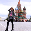 Woman next in Red Square — Foto de Stock
